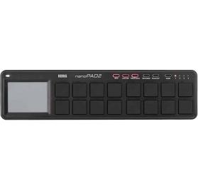 KORG NANOPAD2-BK Kompakt, ütőpados USB MIDI-vezérlő - fekete