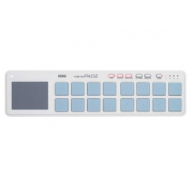 KORG NANOPAD2-WH Kompakt ütőpados USB MIDI-vezérlő - fehér