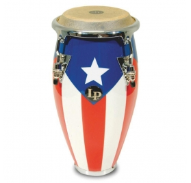 Latin Percussion Konga Mini Tunable - Puerto Rico flag