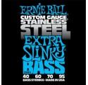 Ernie Ball Stainless Steel Extra Slinky 40-95 basszusgitár húrkészlet