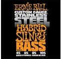 Ernie Ball Stainless Steel Hybrid Slinky 4/45-105 basszusgitár húrkészlet