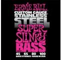 Ernie Ball Stainless Steel Super Slinky 4/045-100 basszusgitár húrkészlet
