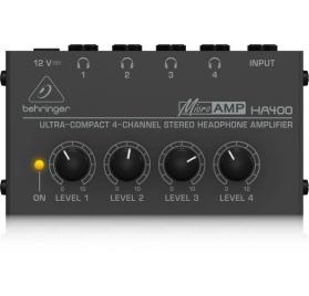 Behringer HA 400 MICROAMP, fejhallgató erõsítõ, 4 csatornás