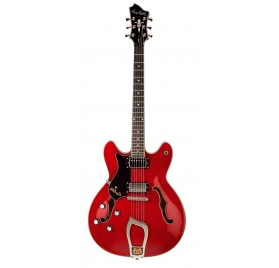 HAGSTROM E-Guitar, Viking, Transparent Cherry, Left-hand