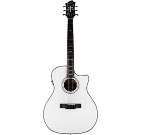 HAGSTROM Steel string guitar, Siljan II, Grand Auditorium, White Gloss
