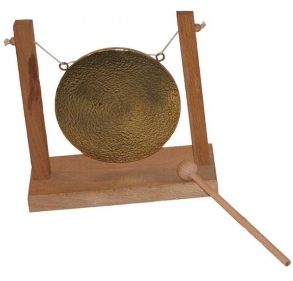 Réz gong fa állvánnyal - 15cm