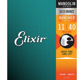 Elixir 11525 Mandolin 80/20 Bronze Medium húrkészlet