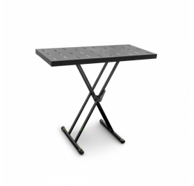 Gravity billentyűállvány – dupla X-állványból és Rapid Desk asztallapból álló készlet