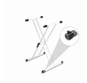Gravity billentyűállvány – dupla X típusú, gyorszárral, fehér