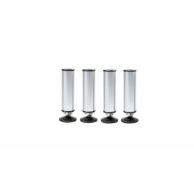 König & Meyer karmesteri pódium láb – 4 darab 50 x 182 mm, alumínium
