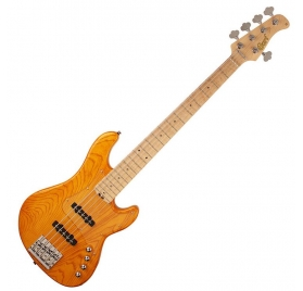 Cort Co-GB75JJ-AM active 5 strings bassguitar - Amber