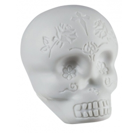 LATIN PERCUSSION SHAKER - SUGAR SKULL WHITE