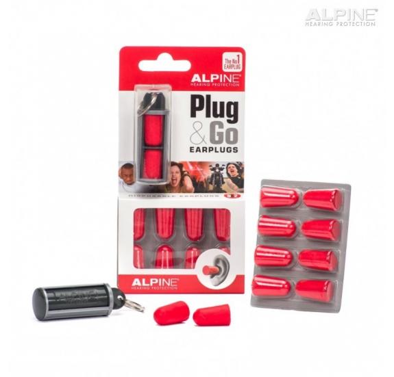 Alpine Plug&Go - Általános Füldugó Kulcstartós Tárolóval
