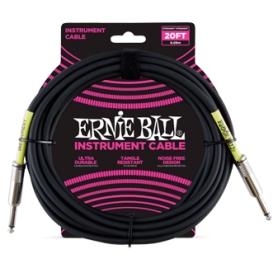 ERNIE BALL PVC HANGSZERKÁBEL 6M EGYENES