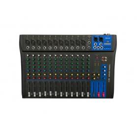 Voice-Kraft Evoice-12 Keverőpult, 11 Monó/1 Sztereó csatorna, USB lejátszó, Bluetooth