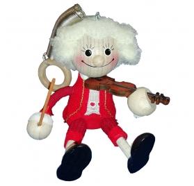 Mozart figura hegedűvel