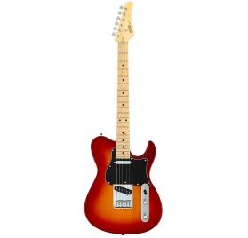 FGN E-Guitar, Boundary Iliad, 2x Singlecoil, Cherry Sunburst