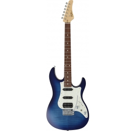 FGN E-Guitar, J-Standard Odyssey FM, Jeans Burst, Bag
