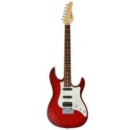FGN E-Guitar, J-Standard Odyssey FM, Transparent Red Burst, Bag