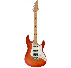 FGN E-Guitar, J-Standard Odyssey FM, Fire Burst, Bag