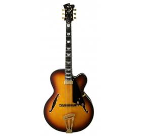 FGN E-Guitar, Masterfield Jazz, FP, Jazz Burst, Case