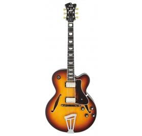 FGN E-Guitar, Masterfield Jazz, HH, Jazz Burst, Case