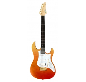 FGN E-Guitar, Expert Odyssey, Ripe Kaki Gradation, Case
