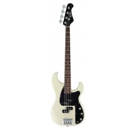 FGN Bass Guitar, J-Standard Mighty Power, Vintage White, Bag