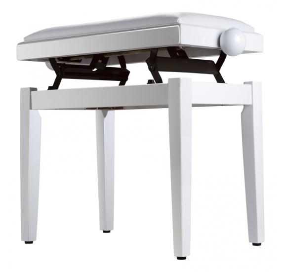 Soundsation SBH-100P-WH - Állítható magasságú fényes felületű zongorapad