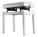 Soundsation SBH-103V-WH - Állítható magasságú fényes felületű zongorapad
