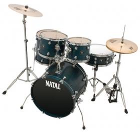 NATAL Shellset, Spirit C, Fusion 20, 5-parts, Cerulean Blue Stain