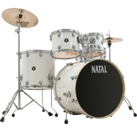 NATAL Spirit Fusion 20, 5 részes dobszett - White wrap