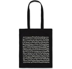 Kotta mintás táska hosszú füllel, fekete