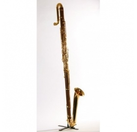 L.A.Ripamonti 322RIPA Eb kontrabasszus klarinét, Boehm, 18K arany - rózsafa