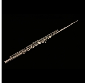 L.A.Ripamonti FL3010SE C flute - Silver plated, oopen holes