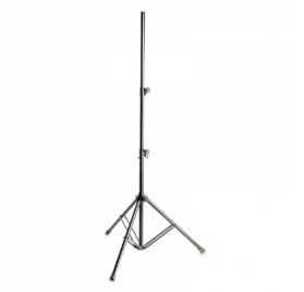 Gravity hangfal és világítás állvány – 35 mm átmérőjű, 3 m magasra kitolható dupla toldócsővel, alumínium, fekete