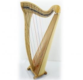 Lauren natural ashwood 34 String Celtic Harp