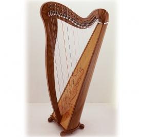 Mahogany 34 String Celtic Harp