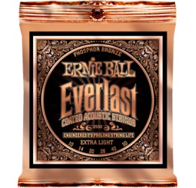 Ernie Ball Ernie Ball Ernie Ball Everlast Coated P. Bronze Extra Light