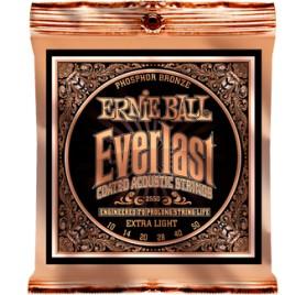 Ernie Ball Ernie Ball Ernie Ball Everlast Coated P. Bronze Extra Light