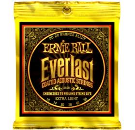 Ernie Ball Everlast Coated Bronze Extra Light