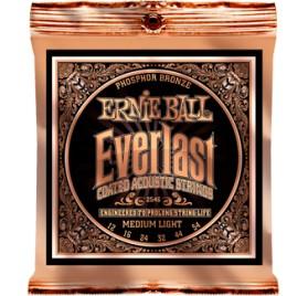 Ernie Ball Everlast Coated P. Bronze Medium Light