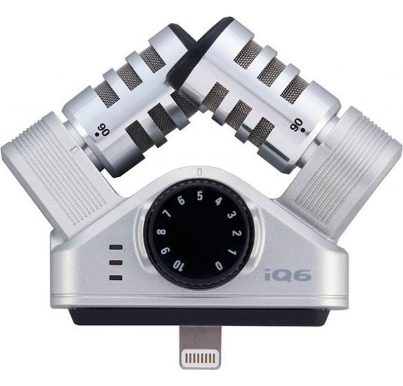 Zoom iQ6: kondenzátor mikrofon: XY sztereo mikrofon iOS eszközökhöz