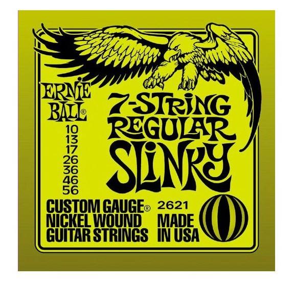 Ernie Ball 2621 7 string Regular Slinky: elektromos gitár húrkészlet: