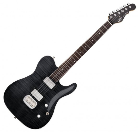 G&L Tribute ASAT Deluxe 'Carved Top' Trans Black