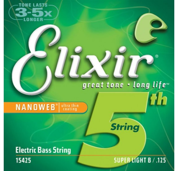 Elixir 15425 NANOWEB Super Light single basszushúr