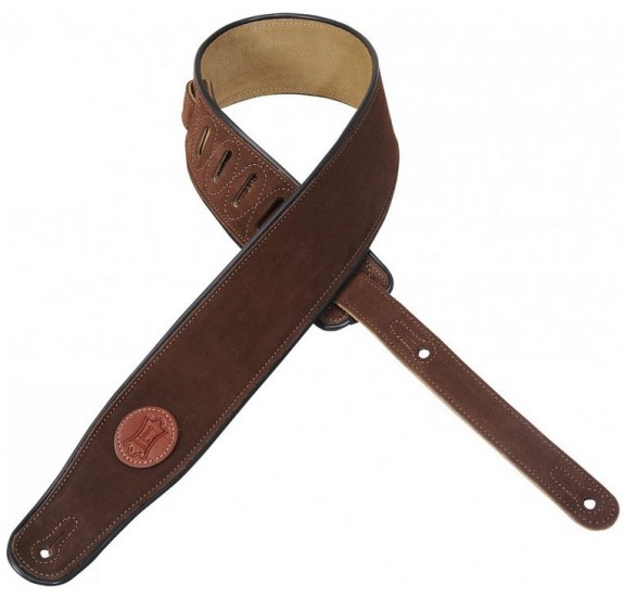 Levys MSS3 Suede Leather Guitar Strap, Brown gitár heveder