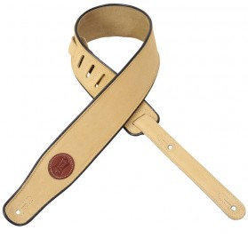 Levys MSS3 Suede Leather Guitar Strap Tan gitár heveder