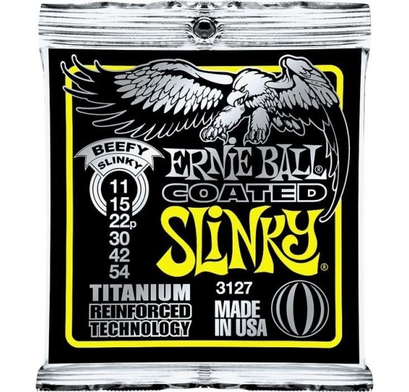 Ernie Ball Coated Tit. Rps Beefy Slinky 11-54 Elektromos Gitárhúr
