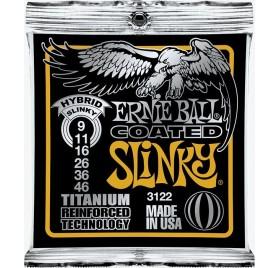 Ernie Ball 3122 Coated Electric Titanium RPS Hybrid Slinky elektromos gitárhúr
